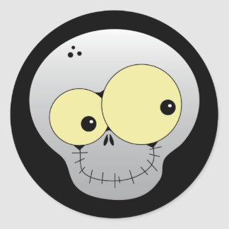 Happy Skull Halloween Sticker