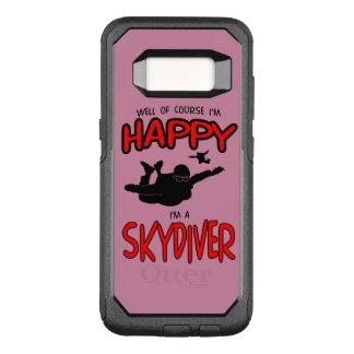 Happy Skydiver (blk) OtterBox Commuter Samsung Galaxy S8 Case