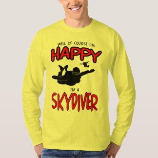 Happy Skydiver (blk) T-Shirt