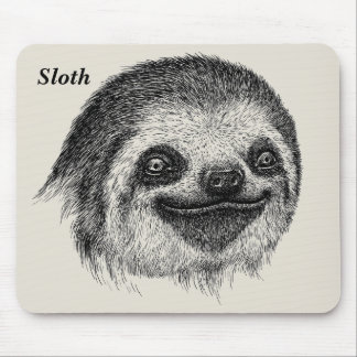 Happy Sloth Face Mouse Pad