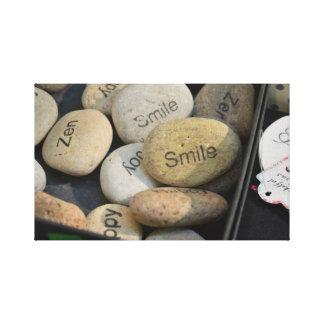 Happy, Smile, Zen Canvas - Italy Canvas Print