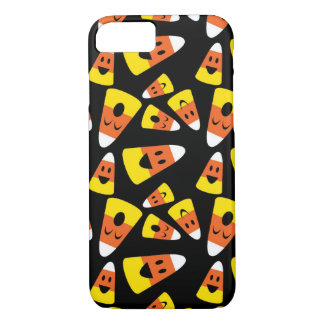 Happy smiley candy corn orange Halloween pattern iPhone 8/7 Case
