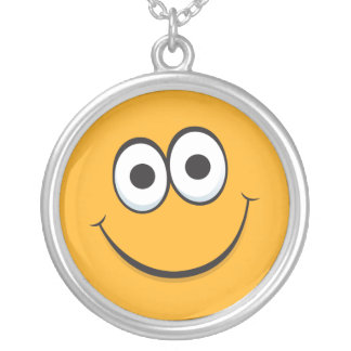 Happy smiley face cartoon necklace