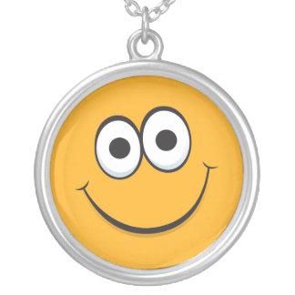 Happy smiley face cartoon necklace