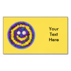 Happy Smiley Face Dandelion Flowers Magnetic Business Card