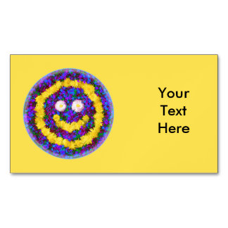 Happy Smiley Face Dandelion Flowers Magnetic Business Cards