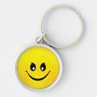 Happy Smiley Face Key Ring