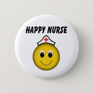 Happy Smiley Face Nurse 6 Cm Round Badge