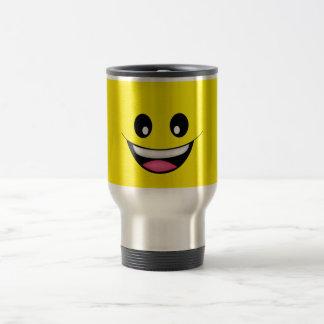 Happy Smiley Face Travel Mug