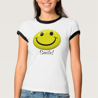 Happy Smiley Face With Smile T Shirt