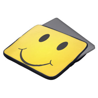 Happy smiley laptop sleeve
