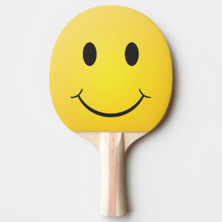 Happy smiley ping pong paddle