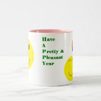 Happy Smiley Two-Tone Coffee Mug