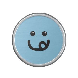 Happy Smiley Yummy Face_baby blue Speaker