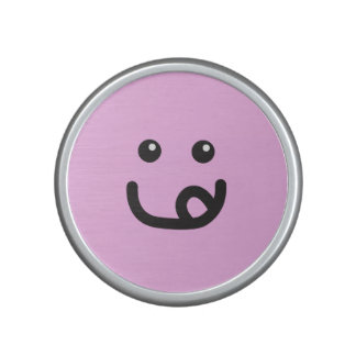 Happy Smiley Yummy Face_cotton candy pink Speaker