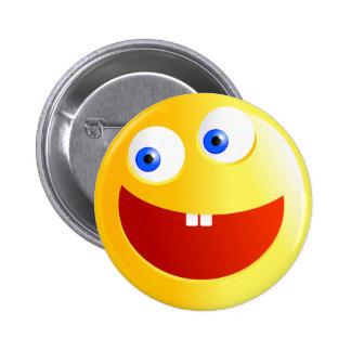 Happy Smilie 6 Cm Round Badge