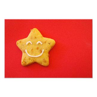 Happy smiling cookie photographic print