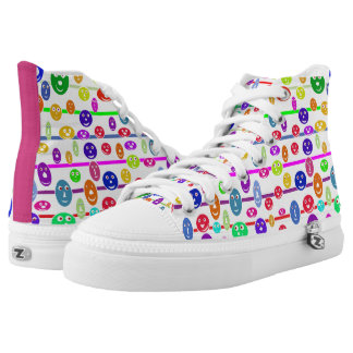 Happy Smiling Faces High Tops