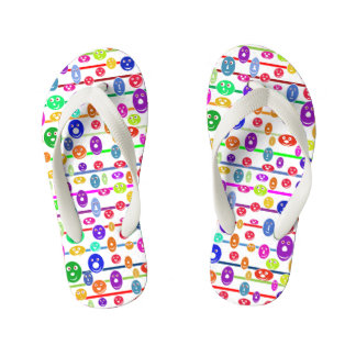 Happy Smiling Faces Kid's Thongs