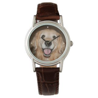 Happy Smiling Golden Retriever Dog Watch