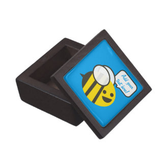 Happy Smiling Jolly Bee Premium Keepsake Box