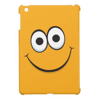 Happy smiling orange cartoon smiley face funny iPad mini case