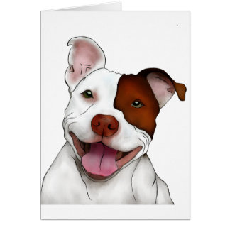 Happy Smiling Pitbull Card