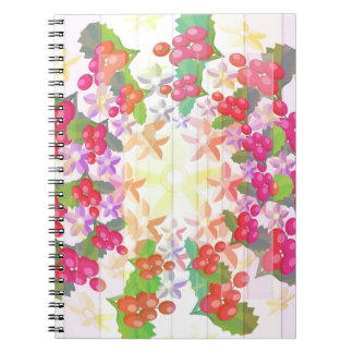 Happy Smiling : Red Berry Garlands Spiral Notebooks