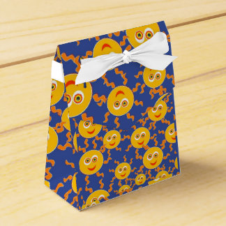 Happy Smiling Sun Faces Pattern Favor Boxes