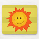 Happy Smiling Sun Mouse Pad