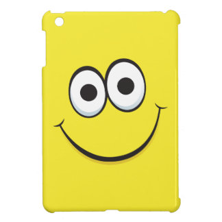 Happy smiling yellow cartoon smiley face funny cover for the iPad mini