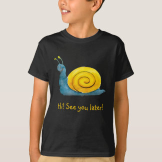 Happy snail | Adorable Animal Tee Shirts