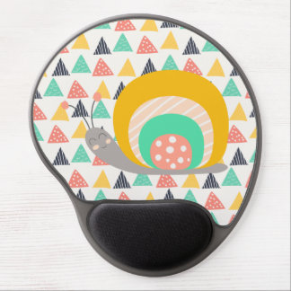 Happy Snail on Triangles Gel Mouse Pad