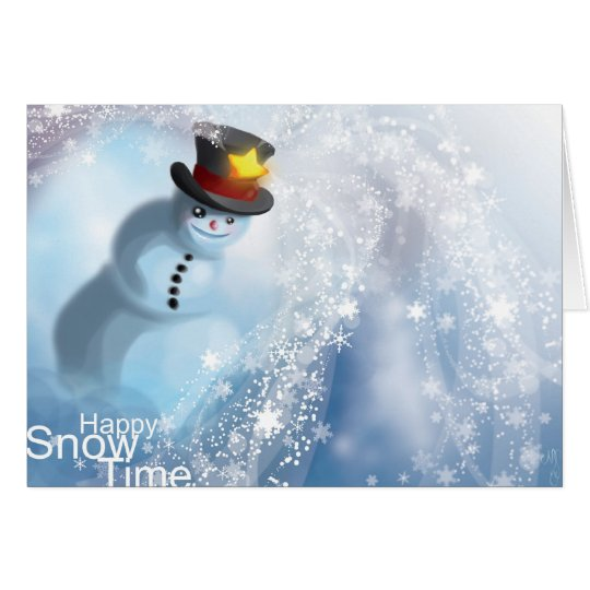 Happy Snow Time Greeting Card
