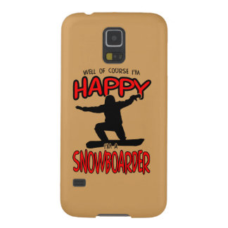 Happy SNOWBOARDER (Black) Cases For Galaxy S5