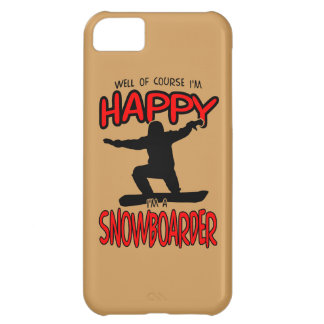 Happy SNOWBOARDER (Black) iPhone 5C Case