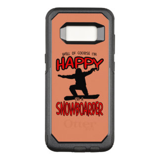 Happy SNOWBOARDER (Black) OtterBox Commuter Samsung Galaxy S8 Case