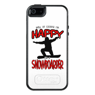 Happy SNOWBOARDER (Black) OtterBox iPhone 5/5s/SE Case