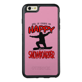 Happy SNOWBOARDER (Black) OtterBox iPhone 6/6s Plus Case