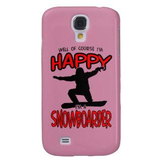 Happy SNOWBOARDER (Black) Samsung Galaxy S4 Covers