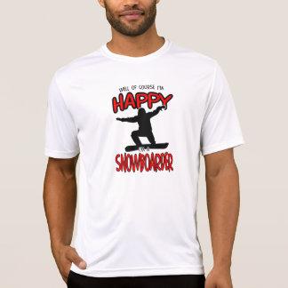 Happy SNOWBOARDER (Black) T-Shirt