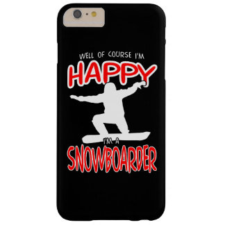 HAPPY SNOWBOARDER in WHITE Barely There iPhone 6 Plus Case