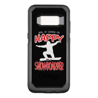 HAPPY SNOWBOARDER in WHITE OtterBox Commuter Samsung Galaxy S8 Case