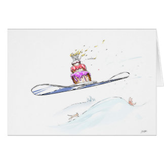 Happy Snowboarding Birthday Card