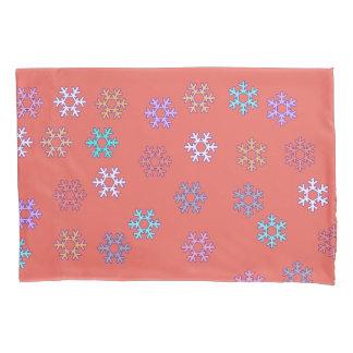 Happy Snowflakes Pillow Case