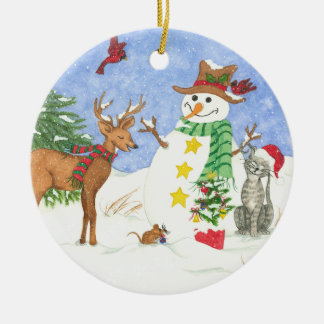 Happy Snowm and Friends - Ornament