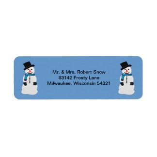 Happy Snowman Address Labels