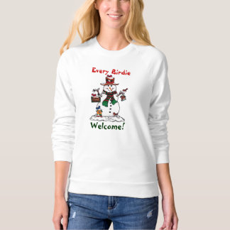Happy Snowman and Birds - Sweatshirt