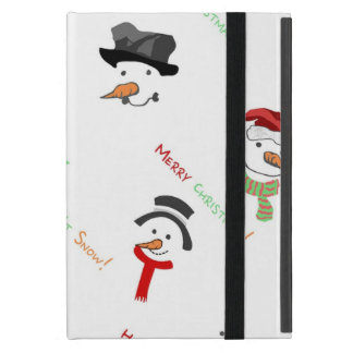 Happy Snowman Case For iPad Mini