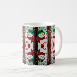 Happy Snowman Collage Cup